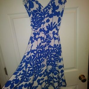 Blue and white dress casual or fancy